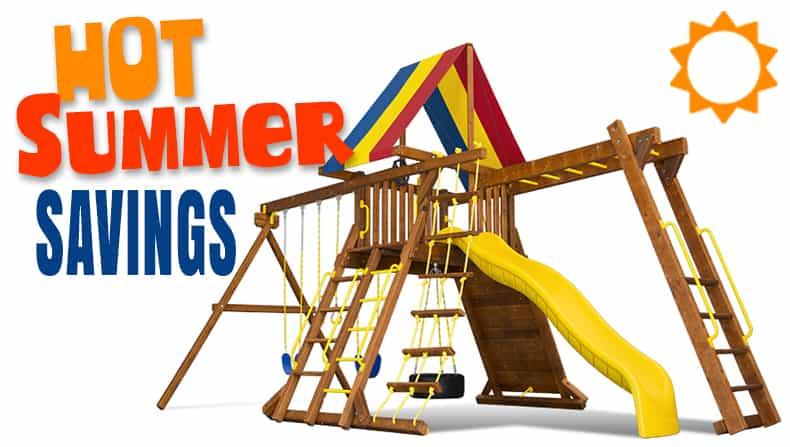Hot Summer Sale on Rainbow Playsets