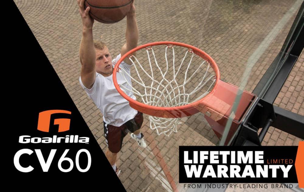 Goalrilla CV60 - Basketball hoop with lifetime warranty