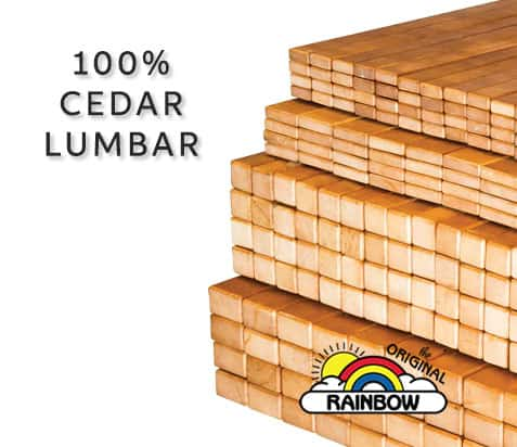 100% Cedar Lumbar - Wooden Play Set