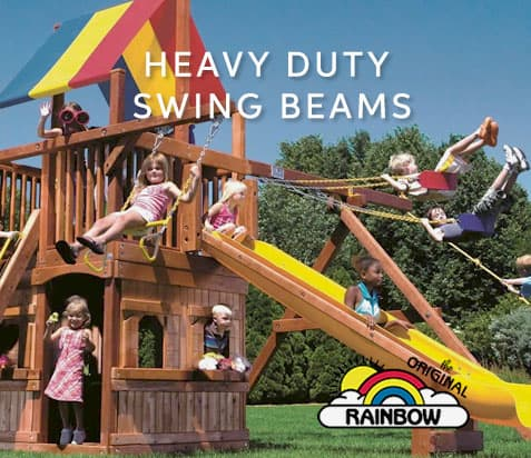 Heavy Duty Swing Beams - Wooden Play Set