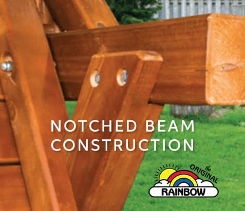 Notched Beam Construction - Wooden Play Set