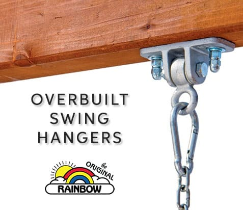 Overbuilt Swing Hangers - Wooden Play Set