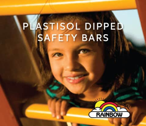 Plastisol Dipped Safety Bars - Wooden Play Set
