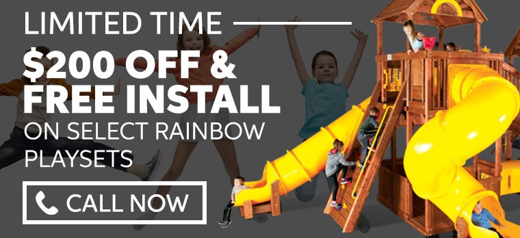 Rainbow Swingset and Playsets Coupon 2019 - Swings-n-Things Cincinnati