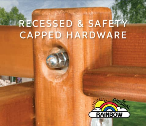 Recessed Safety Hardware and Screws - Wooden Swing Set