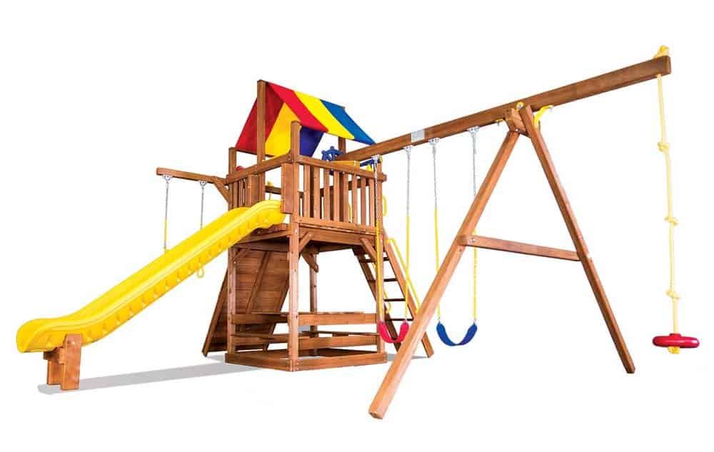 Rainbow Swing Set Cincinnati - Carnival Clubhouse Pkg II Feature Model - 31b - 2