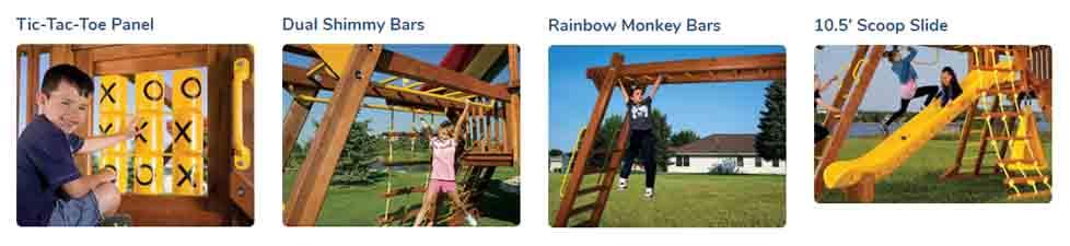 Rainbow Playsets Cincinnati - 2020 Rainbow Clubhouse Pkg III Extravaganza - (46F)