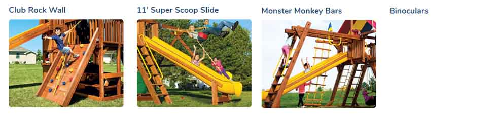 Rainbow Playsets Cincinnati - 2020 Monster Huckleberry Hideout Pkg V Jacked - (51J)