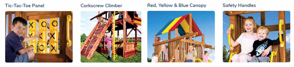 Rainbow Playsets Cincinnati - Rainbow Clubhouse Pkg II Unique Spacesaver (45C)