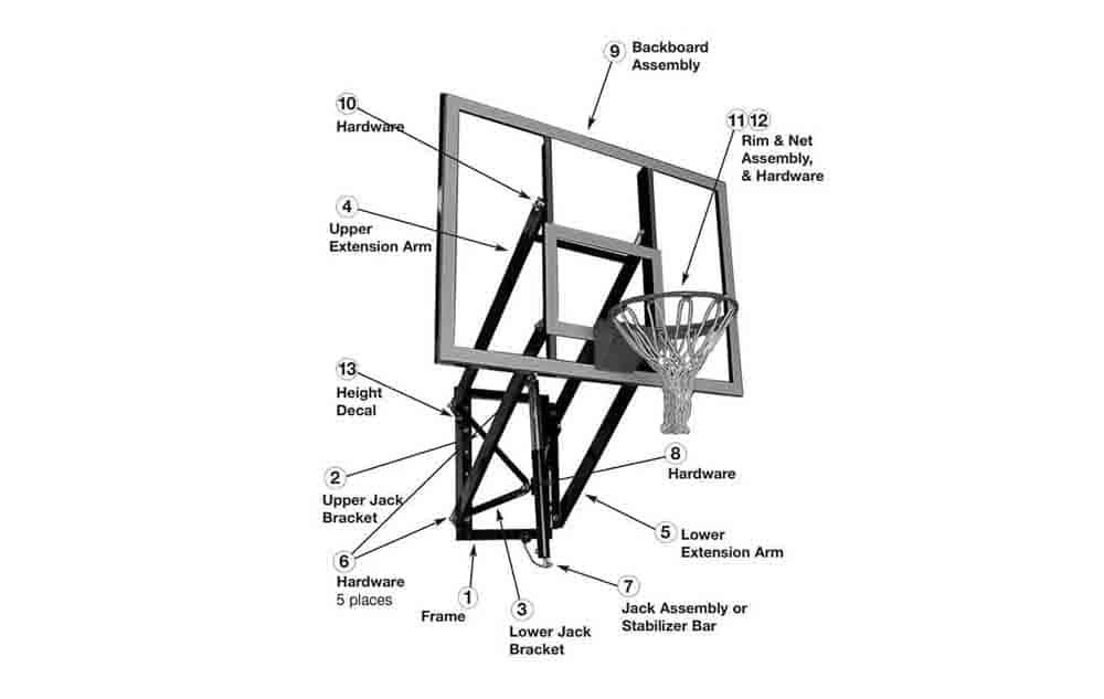 Goalsetter GS54 - 54 inch wall mount hoop 4