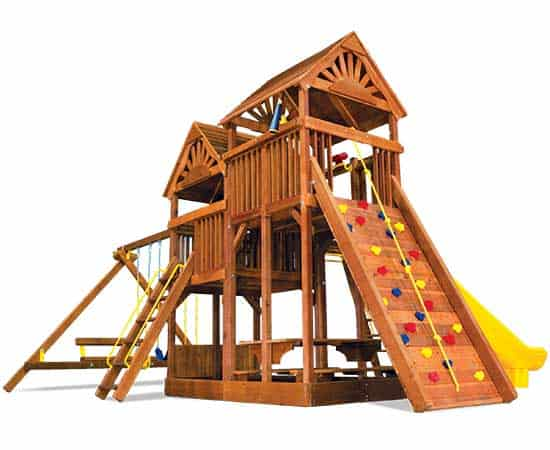 King Kong Clubhouse Pkg III with Wooden Roofs