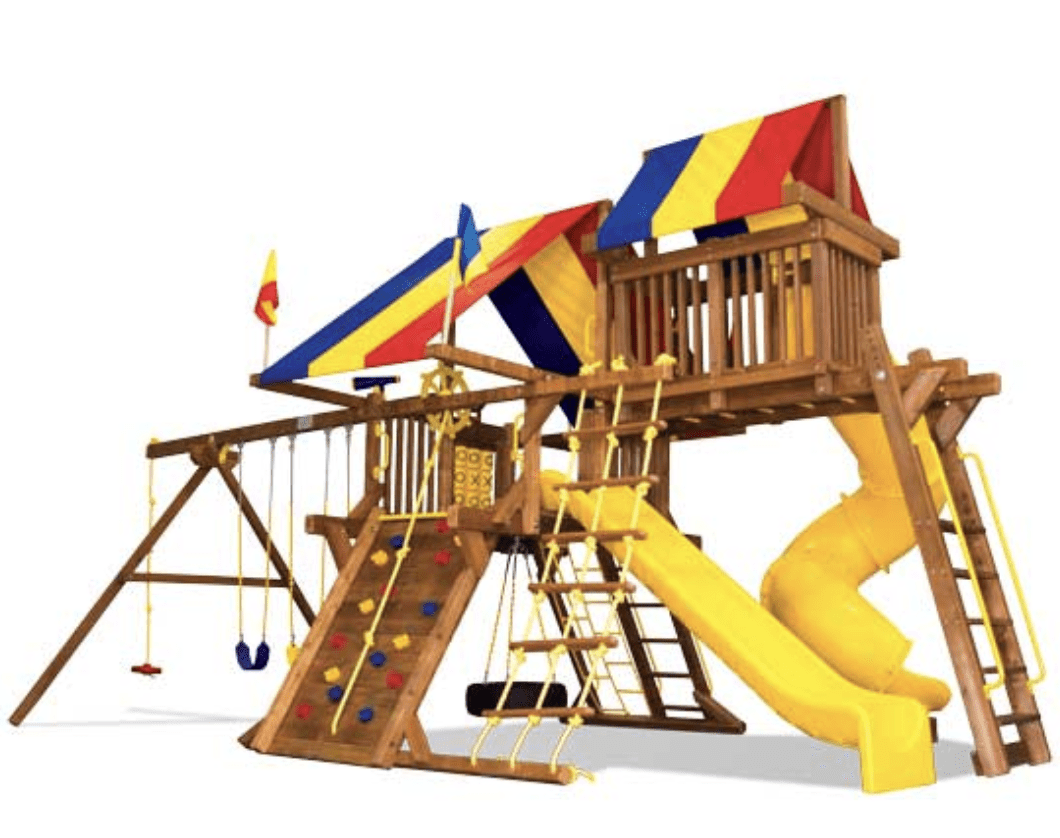Sunshine Castle Pkg V with 270° Spiral Slide (15J)
