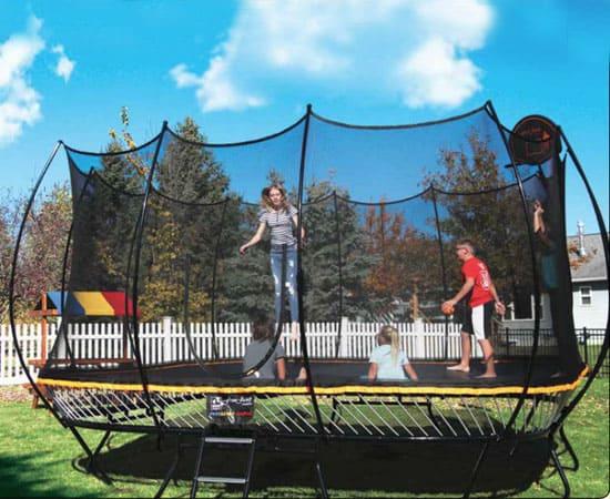 Kids Jumping on Rainbow R14 Trampoline